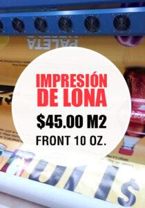 Promoción Impresión de Lonas Abril